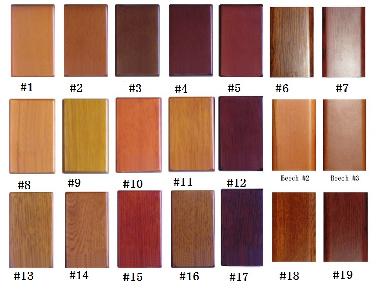 Bathroom Cabinet Color sample chart