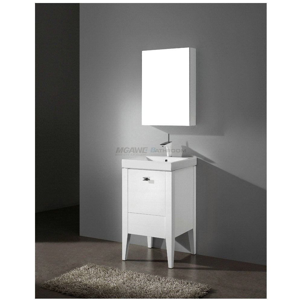 wood mirrored bathroom cabinet MS-8001