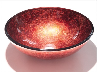 vessel sink red 8002
