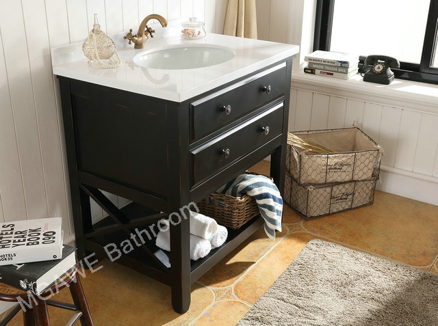 32inch expresso color bathroom vanity cabinet