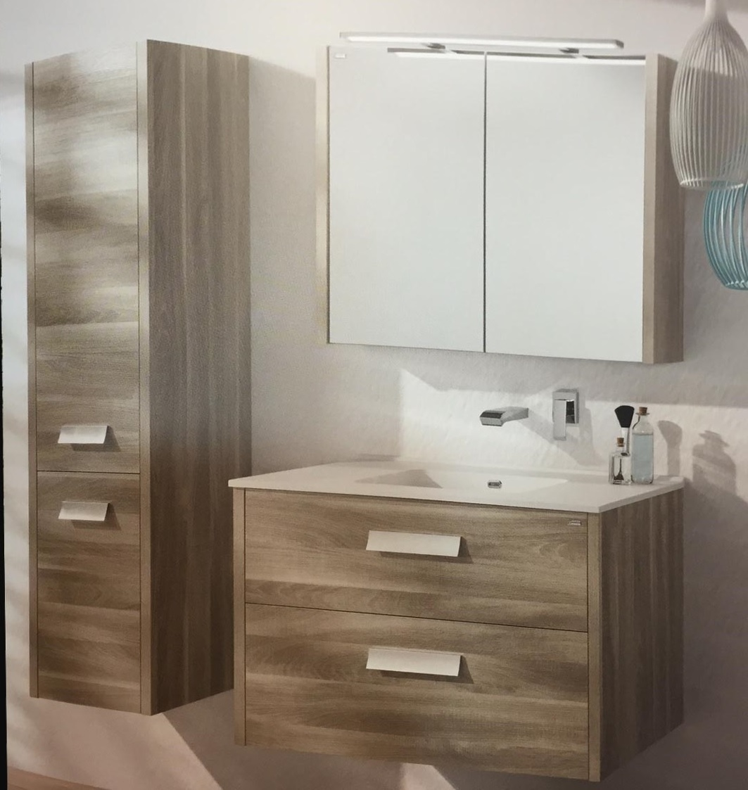 plywood bathroom vanity cabinet combo with wood veneer and side mounted cabinet