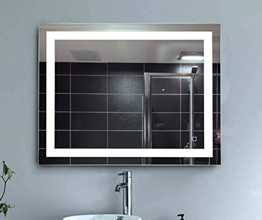 Delightful Dimmable LED Backlit Mirror Anti Fog Illuminated Vanity Mirror Bathroom  Mirror With Touch Button And ...