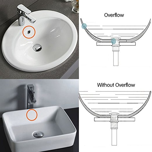 Vessel Sink Pop up Drain Without Overflow,Brushed Nickel