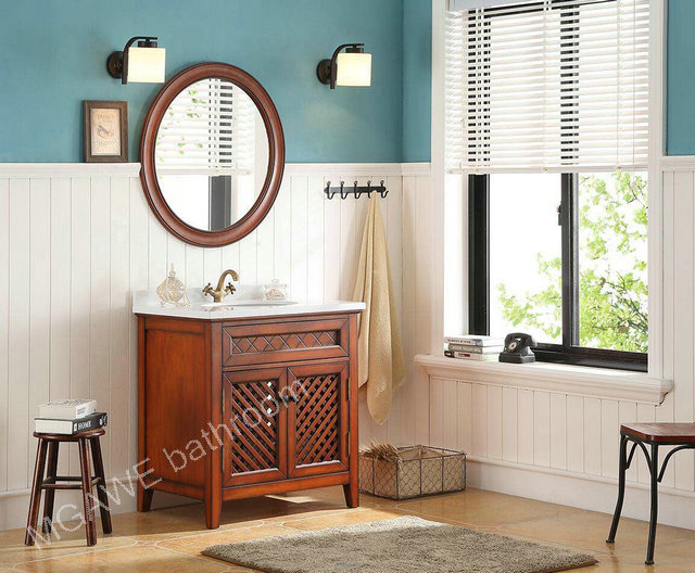 new item solid wood bathroom vanity cabinet
