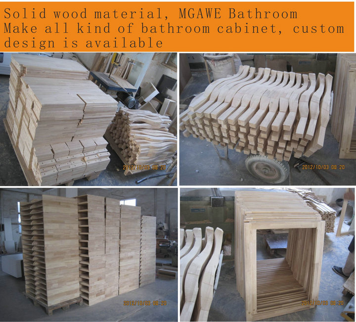 solid wood bathroom cabinet material