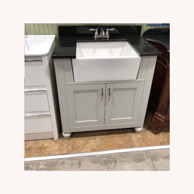 30inch Bathroom Vanity Cabinet With Deep Ceramic Basin And