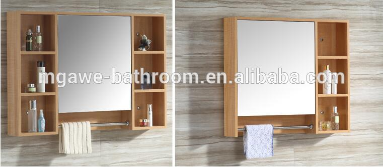 Solid Wood Wall Mounted Mirror Cabinet