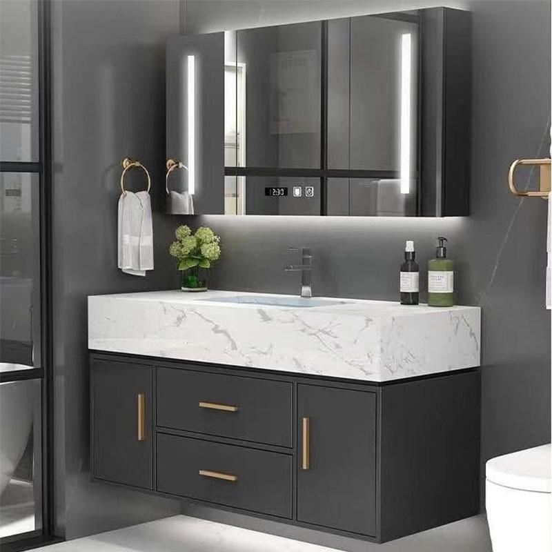 40inch Black Bathroom Vanity Set With, Bathroom Vanity Mirror Cabinet